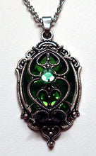 Load image into Gallery viewer, Gothic Filigree Caged Rhinestone Pendant