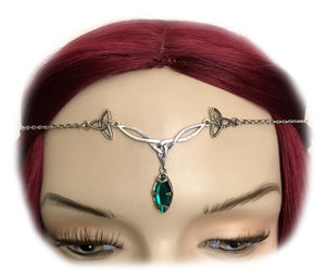 Celtic Triquetra Trinity Knot Headpiece