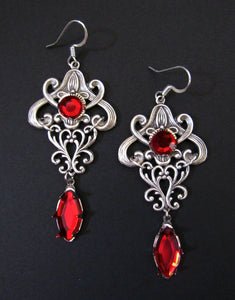 Art Nouveau Filigree Earrings