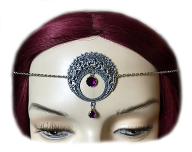 Large Crescent Moon Headpiece