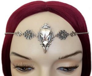 Raven Skull Filigree Headpiece