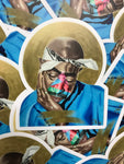 """Golden Dream - Tupac"" Stickers"