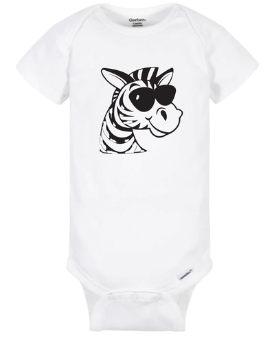 Zebra with Sunglasses Onesie
