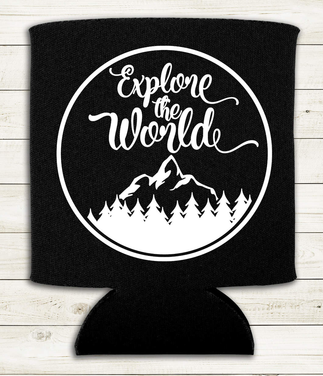 Explore the World - Can Cooler Koozie