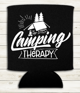 Camping Therapy - Can Cooler Koozie