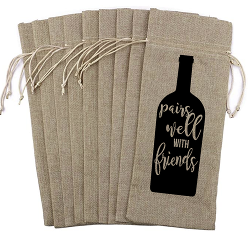 Wine Bag - Pairs Well with Friends