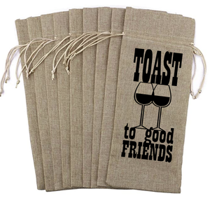 Wine Bag - Toast to Good Friends