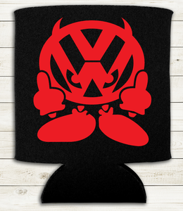 VW Devil - Red  - Can Cooler Koozie