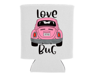 Pink Love Bug - Can Cooler Koozie