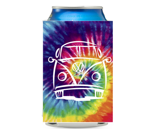 VW Bus- Tie Dye Can Cooler Koozie