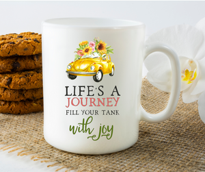 Life's a Journey - VW Beetle - 11oz. Mug