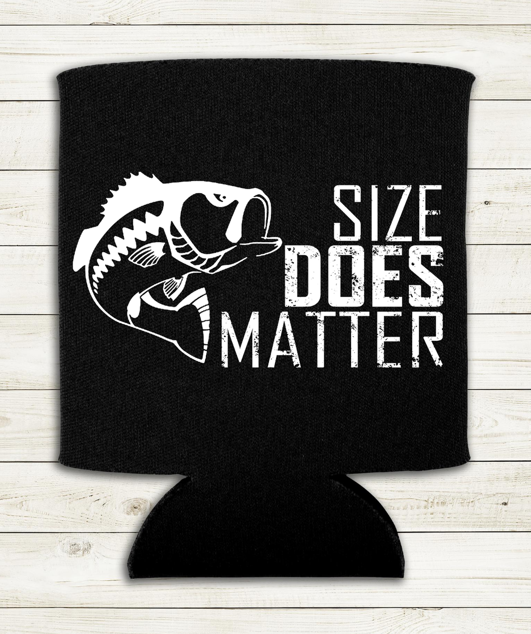 Size Does Matter - Fishing - Can Cooler Koozie