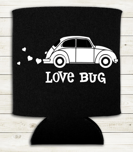 Love Bug - vw beetle - Can Cooler Koozie