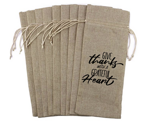 Give Thanks with a Grateful Heart - Wine Bag