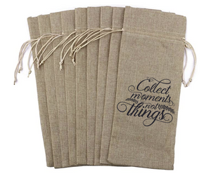 Collect Moments not Things -  Wine Bag