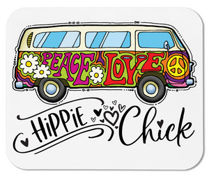 Hippie Chick- VW Bus - Mouse Pad