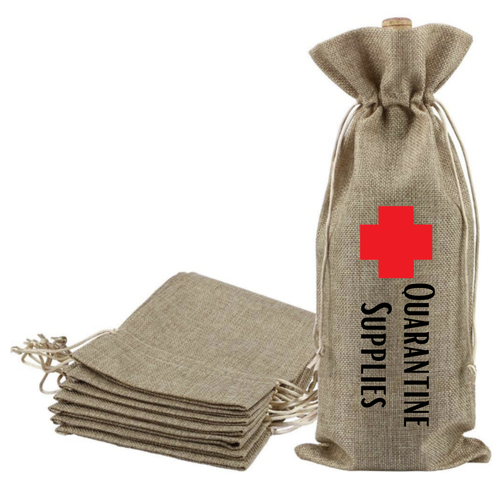 Quarantine Supplies - Wine Bag - Gift Bag