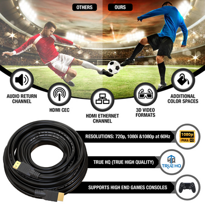 25M HDMI Cable v1.4 by True HQ™