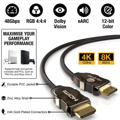 1M HDMI 2.1 Cable 8K 48Gbps by True HQ™
