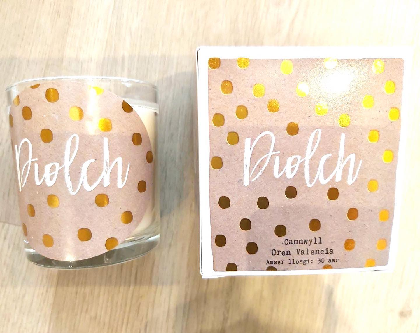 Soy Wax Welsh 'Diolch' - Thank you Candle