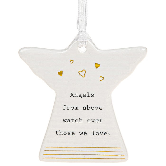 Ceramic Angel Hanging Plaque
