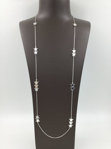 Long Silver Star Necklace