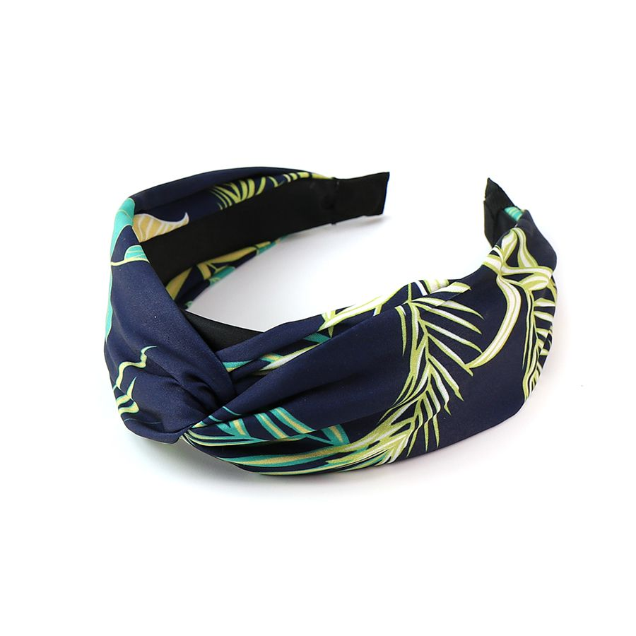 Navy Tropical Headband