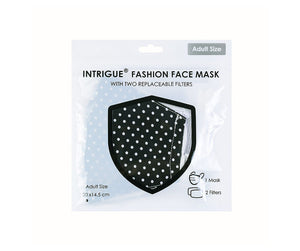 Black Dot 100% cotton face mask - Filter