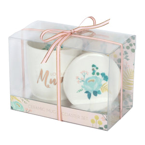 Loveliest Mum Mug and Coaster Gift Box Set