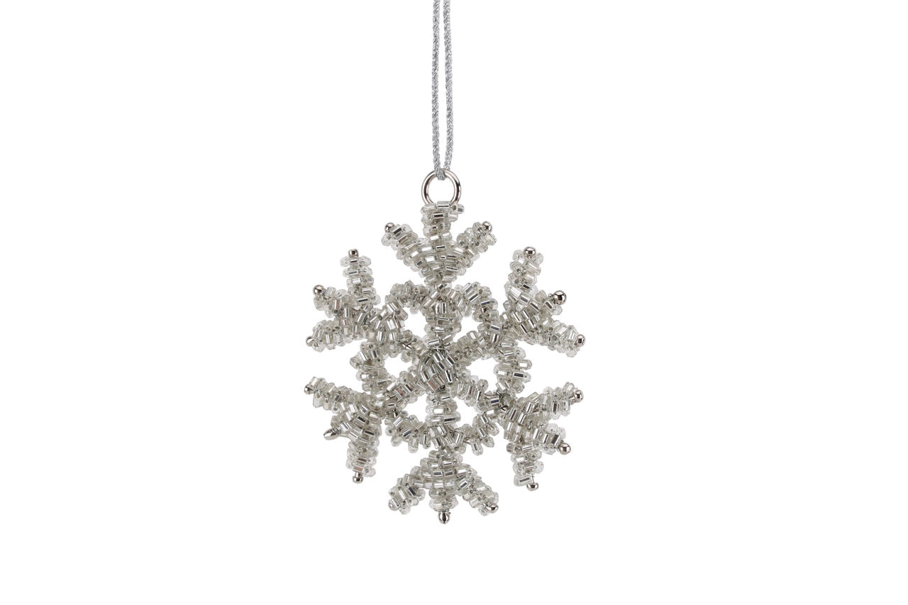Beaded Hanging Snowflake