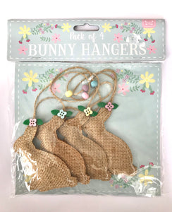 Set of 4 Hessian Bunnies