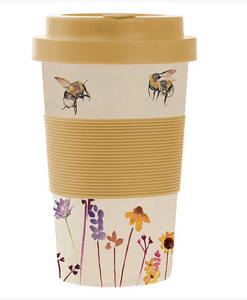 Reusable Bamboo Travel Mug - Bee
