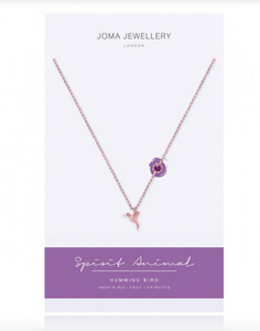 Joma Jewellery - Rose Gold Humming Bird Necklace