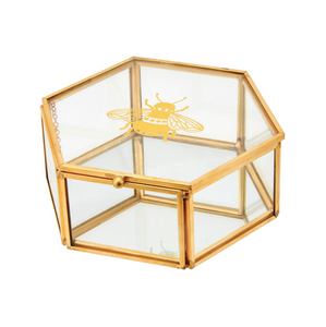 SASS AND BELLE BUSY BEES GLASS JEWELLERY BOX