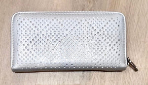 Silver purse with laser cut design