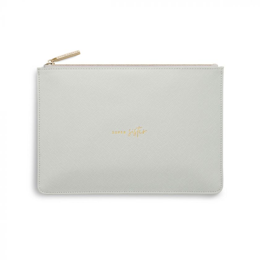 Katie Loxton 'Super Sister' Pouch - Light Grey