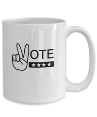 Vote Peace Sign Coffee Mug
