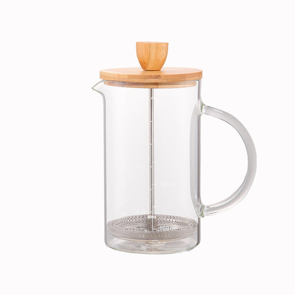 Glass French Press with Bamboo Lid 600ml