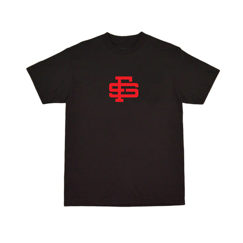 Monogram Tee - Black (Red)