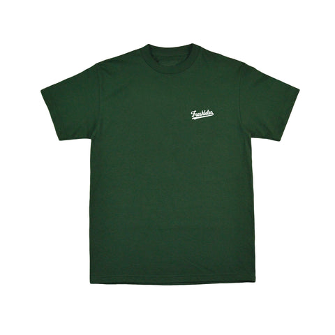 Basic Tee - Dark Green (White)
