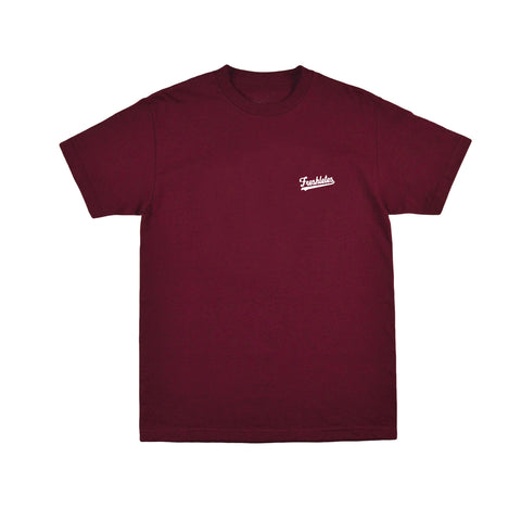 Basic Tee - Maroon (White)
