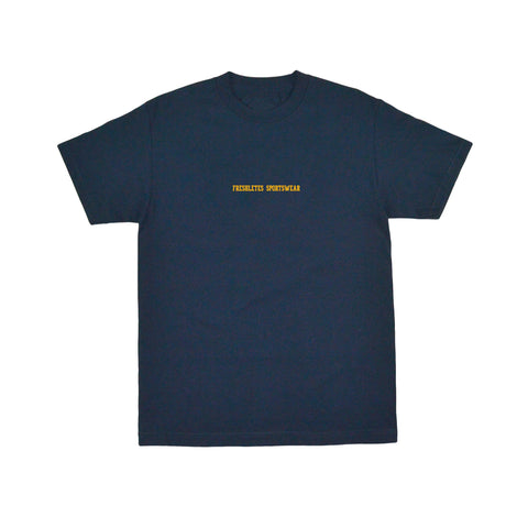 Classic Wordmark Tee - Navy (Team Gold)