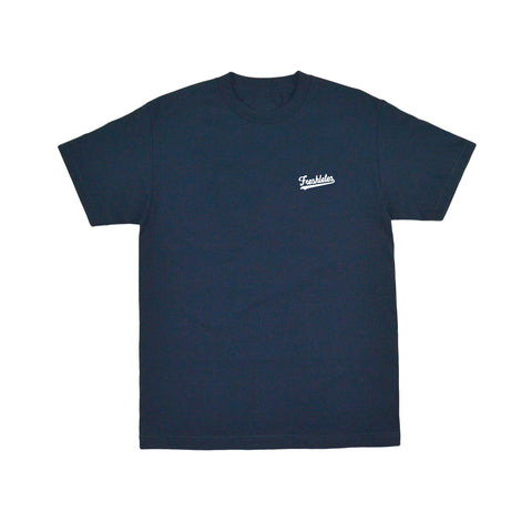 Basic Tee - Navy (White)