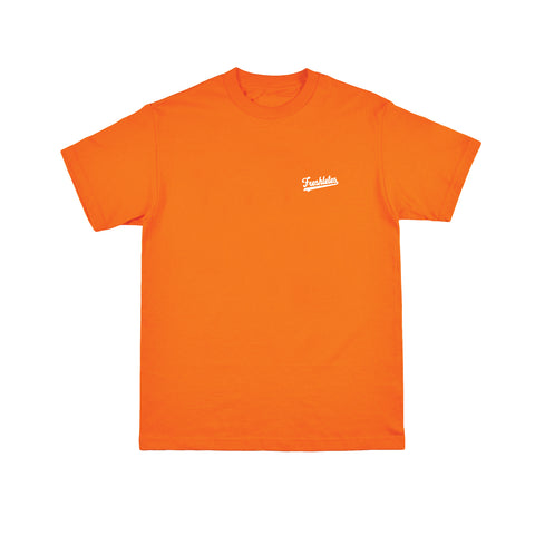 Basic Tee - Orange (White)