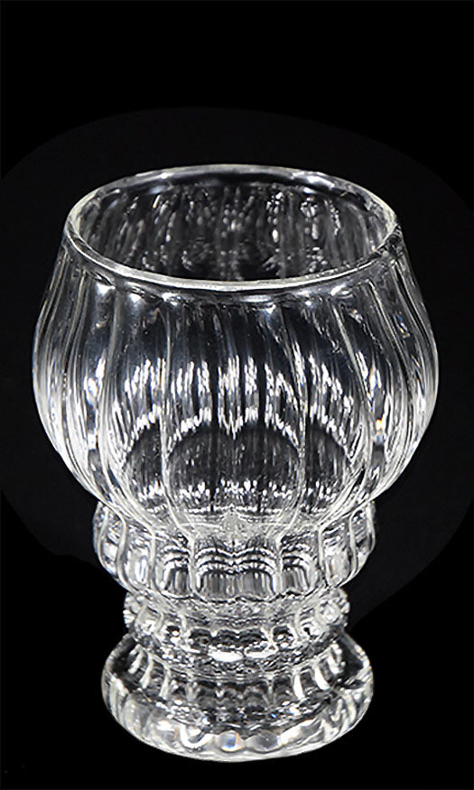 Clear Scalloped Scotch Glass by Phil Sundling