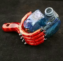 Devils Right Hand and Flask Pendant Dab Rig