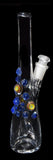 Bottle Dab Rigs by Bhaller Glass - Circle Cluster Cobalt Accents