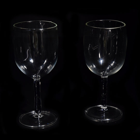 Goblet Pair With Colored Stem - Black