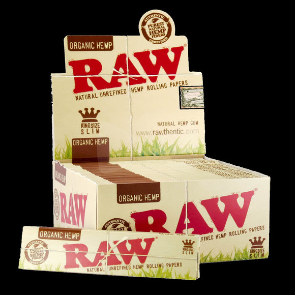 raw organic king slim paper