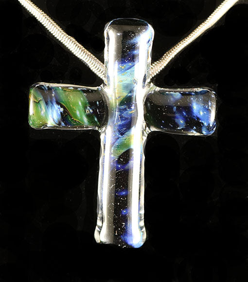 Fumed Cross Pendant